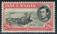 Lightly Hinged Single Ascension Island Stamps