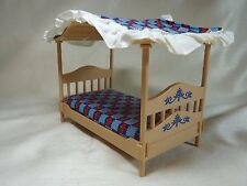 Vintage TOMY Dollhouse Canopy Bed (new)