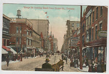 Yonge St. Looking South from Shuter Toronto Postcard