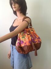 Deux Lux Hobo Bag Tassels Multicolor Orange Lime Purple Designer Fashion Hip