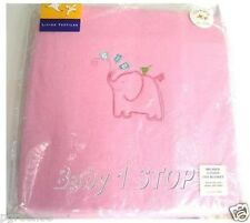 Pink Baby Ultra Soft Brushed Cotton Embroidered Cot Blanket 120 x 150cms NEW