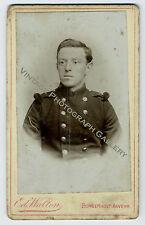 Antique Military CDV Photo Soldier Borgerhout Anvers Belgium Ed Walton Studio