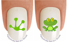 Nail Decals #217 ANIMAL Green Frog #1 Frog Leg Waterslide Nail Transfers Sticker