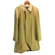 LANVIN Jacket 40R Medium Large M L Tan Brown Coat Rain Cotton Japan Trench