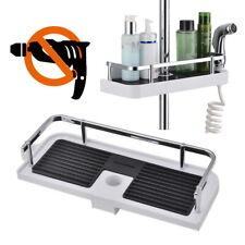 Adjustable Bathroom Shelf Shower Shampoo Soap Rack Bath Storage Holder Organizer