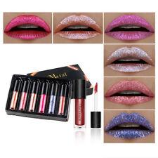 6Pcs Women Glitter Lip Makeup Waterproof Lip Gloss Nude Glitter Shimmer Lipstick