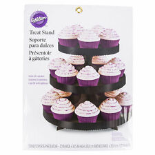 Wilton Black 3 Tier Cardboard Treat Stand, Holds 24 Cupcakes