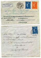 NEDERLAND NED INDIE  1938 SMN  2 x CV + GROTE FOTO MS =POELAU= BEMANNING  F/VF