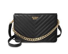 Victoria's Secret V-quilted Black Crossbody Bag, New.