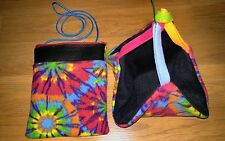 (TYE DYE!!)Sugar Glider Bonding Pouch & Sleeping  Hammock!!