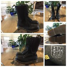 Dr. Marten's Steel Toe BOOTS 14 Eyelets sz 6 UK,Mens 7 US , 8 Womens Goth Punk