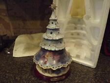 "Disney ""Cinderella's Christmas Wishes Tree"" Tabletop Xmas Tree Bradford Exchange"
