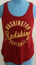 New Touch Active Washington Redskins NFL Mesh Loose Tank Top shirt Women's M