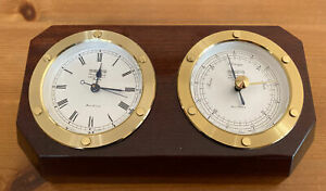 Wempe  Chronometerwerke Hamburg  Wetterstation (Uhr, Barometer)