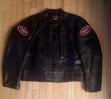 VANSON LEATHERS NEW WOMEN'S BLACK LEATHER MOTORCYCLE JACKET. RARE SIZE 20