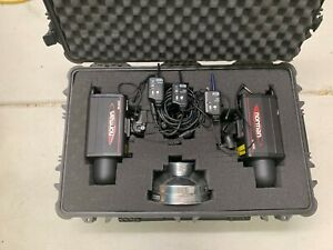 Set of 2 Norman ML600 600Ws Monolight Studio Flash + 3 Pocket Wizards