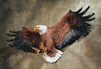 Wall Sculpture Statue Eagle Figurine Large Patriotic Bird Home Resin Decor