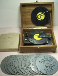 vintage~THORENS~30 NOTE & 16 DISC WIND UP SWISS MUSIC BOX IN SOLID WALNUT BOX~