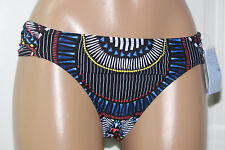 NEW Bar III VESSI Black Strawberry Sash Tab Hipster Bikini Swim Bottom XL XLarge