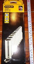 Stanley 10 Piece 1/2 Inch Metric Deep Socket Set,10,11,12,13,14,15,16,17,18,19mm
