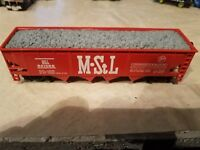 Bachmann #1030 HO Scale M-StL 40' GRAVEL Hopper #541085 with Couplers
