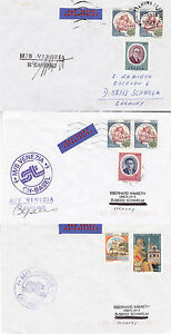 ITALIAN RIVER CRUISER MS VENEZIA 3 SHIPS CACHED COVERS ONE CAPTAIN SIGNED