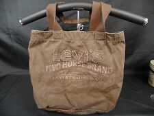 LEVI STRAUSS & CO TWO HORSE BRAND COPPER RIVETED CLOTHING CANVAS TOTE BAG BOX B2