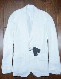 Armani Exchange A X Mens Flax Linen Blend White Blazer Sport Coat Jacket 46