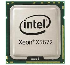 PAIR 2X INTEL XEON X5672 QUAD CORE 3.2GHz CPU LGA 1366 SLBYK Dell Hp G6 G7 R710