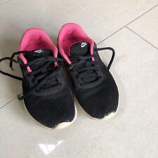 Girls Nike Black & Pink Trainer Shoes Size UK 1