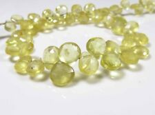 Beads & Jewelry Making Sample Of One Bead Of Gemmy Heliodor Yellow Aquamarine Briolette 3.8carats 7786a Crafts