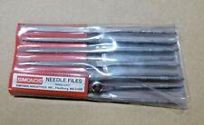 "SIMONDS 12 Piece Needle File Set, 6"" Long - Swiss Made Double Cut #2"