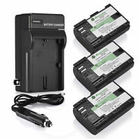 3x LP-E6 LP-E6N Battery + Charger for Canon EOS 5D Mark II III 6D 60D 7D 70D 80D