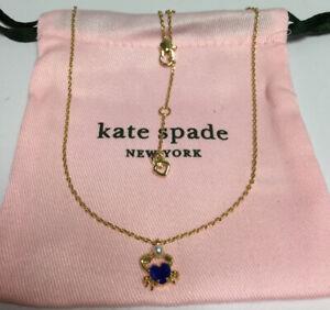 Kate Spade New York Sea Star Crab Mini Pendant Necklace w/ KS Dust Bag New