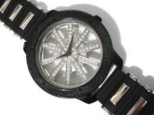 Bling Bling Big Case Transparent Dial Men's Watch Black / Silver Item 1070