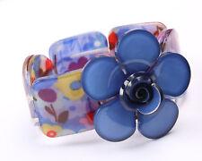 Acrylic Blue Flower Bracelet