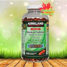 Kirkland 100% Wild Alaskan Salmon Oil 1200 mg,320 Enteric Softgels (KS2124)