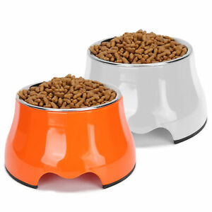 2 In 1 Pet Food Bowl Stainless Steel Non Slip Feeding Water Drinking Bowl Supply