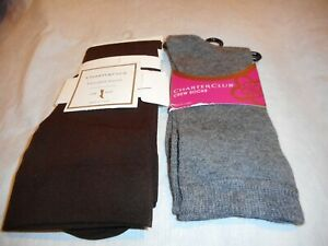 N/W/T  3 Pairs Of Women Charter Club Socks Sold Together SIZE O/S Sock Size 9-11