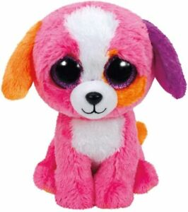 TY BEANIES PRECIOUS the DOG 15 cm GLITTER EYES