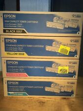Epson Toner Black Yellow Magenta Cyan 0557 0558 0559 0560 AcuLaser C1600, CX16