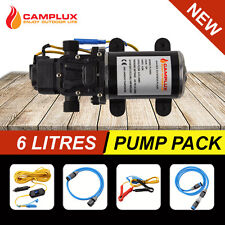 12V WATER PUMP 6L/MIN 65 PSI HIGH PRESSURE CARAVAN BOAT GAS HOT WATER SYSTEM