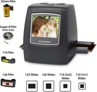 "2.4"" LCD Screen 22MP Film Scanner Converts into Digital Photos W/ 128MB SN"