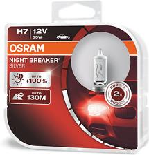 OSRAM NIGHT BREAKER SILVER H7, +100% more brightness, halogen headlamp, 12V, duo