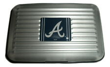 Atlanta Braves Aluminum Wallet with RFID Blocking Technology New