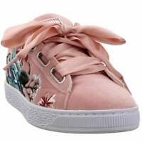Puma Basket Heart Hyper Womens  Sneakers Shoes Casual   - Pink - Size 8 B