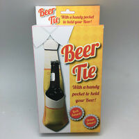 Beer Tie Bottle Holder Drinks Fun Stag Party Men's Birthday Novelty Xmas Gift