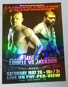 Quinton Rampage Jackson Signed 2010 Topps UFC 71 Fight Poster Card FPR Autograph