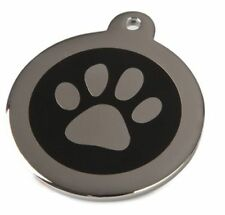 Energy Wellness Magnet Hunde Halsband Anhänger Edel Stahl Edelstahl Silber Farbe