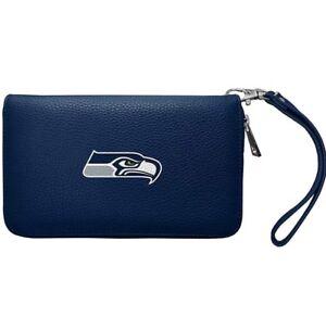 NFL Seattle Seahawks Zip Organizer Wallet Pebble *New*